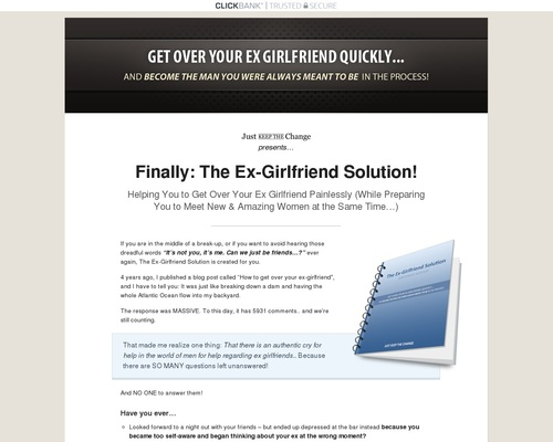 The Ex-Girlfriend Solution: Get Over Your Ex Girlfriend Quickly (eBook)